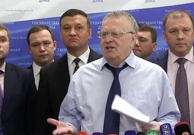 Выступление Владимира Жириновского перед прессой (видео)